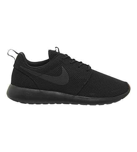 NIKE Roshe Run mesh trainers (Black+mono+m