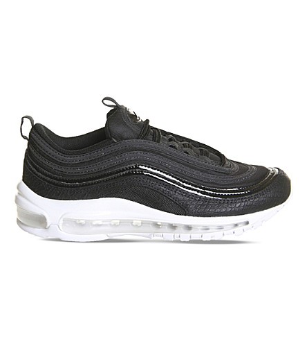 NIKE Air Max 97 leather and mesh trainers (Black+white+prm