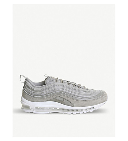 NIKE Air Max 97 low-top suede trainers (Cobblestone+white