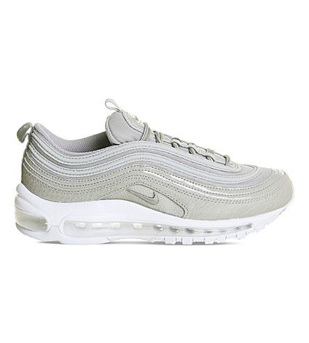 NIKE Air Max 97 leather and mesh trainers (Cobblestone+white