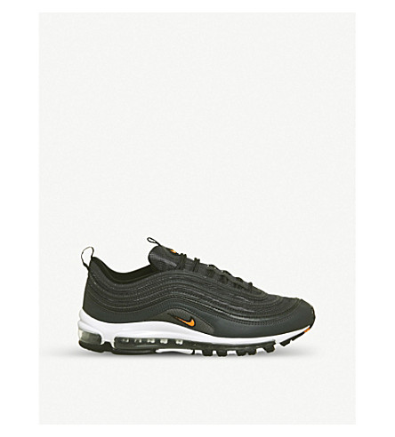 NIKE Air Max 97 leather trainers (Anthracite+orange