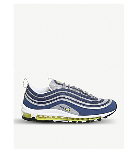 NIKE Air Max 97 faux-leather trainers (Alantic+blue+volt