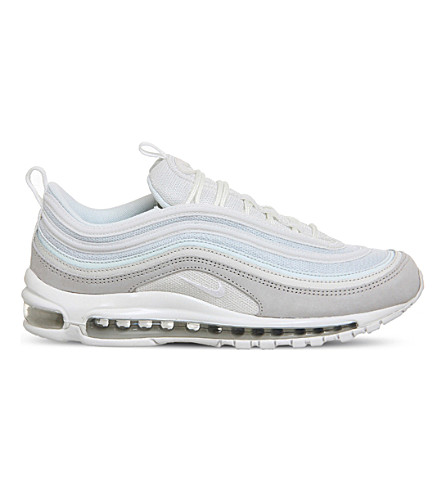 NIKE Air Max 97 leather and mesh trainers (Light+bone+white