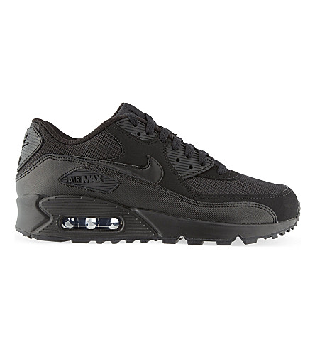 NIKE Air Max 1 mesh and leather trainers (Black
