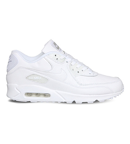 NIKE Air max 90 leather sneakers (White+white