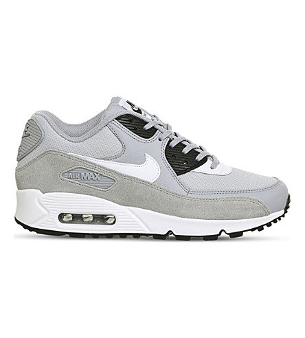 NIKE Air Max 90 suede and mesh trainers (Wolf+grey+white