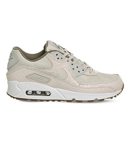 NIKE Air Max 90 Premium leather trainers (Oatmeal+prm