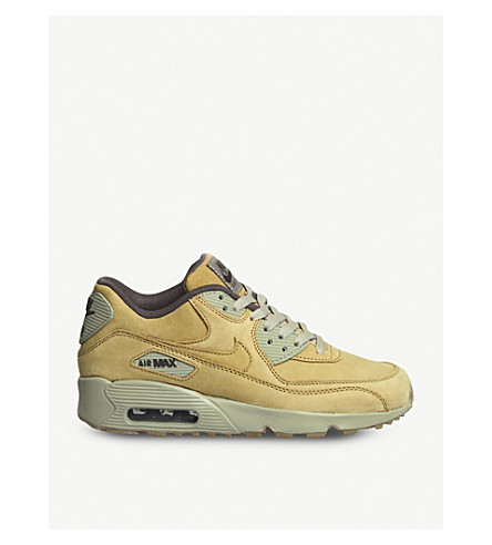NIKE Air Max 90 low-top nubuck trainers (Flax+gum+light+brown