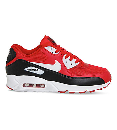 NIKE Air max 90 leather and mesh sneakers (Red white essential