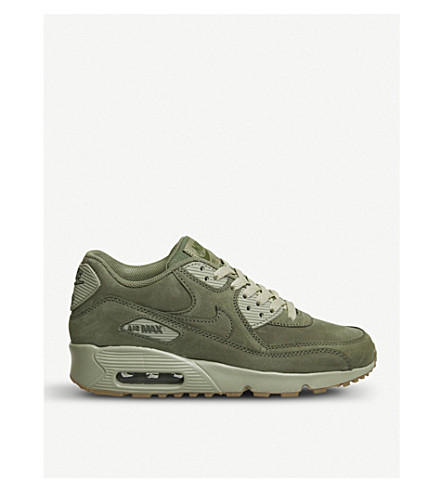 NIKE Air Max 90 suede trainers (Olive+gum+brown