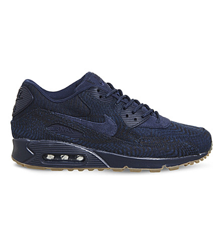 NIKE Air Max 90 jacquard woven trainers (Indigo+obsidian+navy