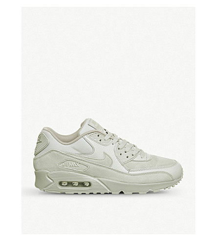 NIKE Air Max 90 leather and mesh trainers (Light+bone+prm