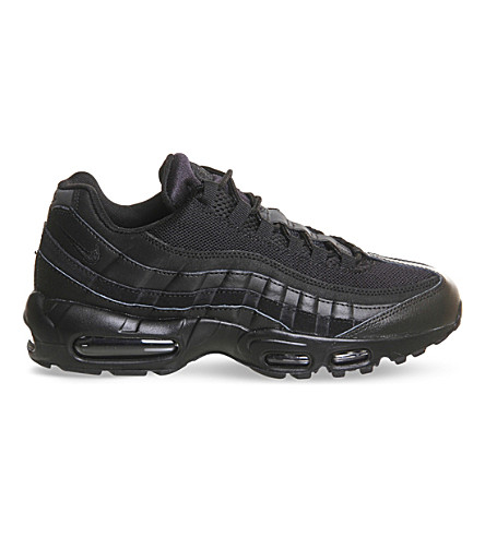 NIKE Air Max 95 Essential mesh and leather trainers (Black+mono