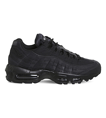 NIKE Air Max 95 leather and mesh trainers (Black+wolf+grey