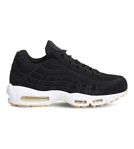 NIKE Air Max 95 suede and mesh trainers (Black+muslin+white
