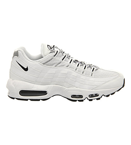 NIKE Air Max 95 trainers (White+white+black