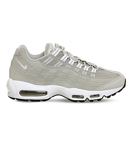 NIKE Air Max 95 suede and mesh trainers (Granite+white+black