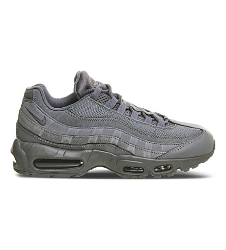 NIKE Air max 95 suede and mesh trainers (Cool grey mono