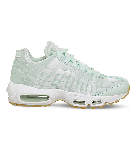 NIKE Air Max 95 leather and satin trainers (Fibreglass+satin+qs