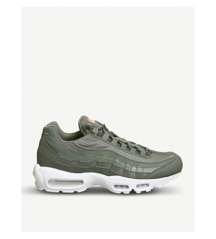 NIKE Air Max 95 leather and mesh trainers (River+rock+white+prm