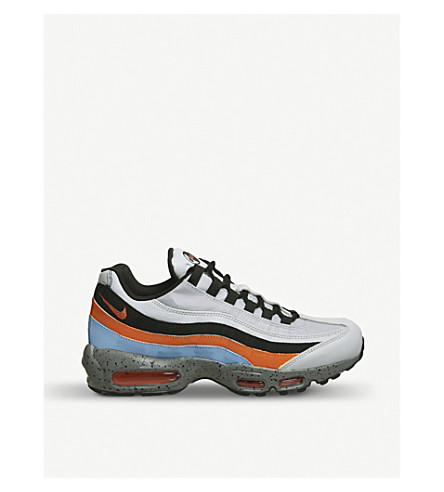 NIKE Air Max 95 leather and mesh trainers (Wolf+grey+solar+red