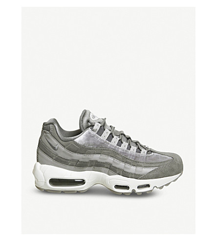 NIKE Air Max 95 velvet and suede trainers (Gunsmoke+velvet