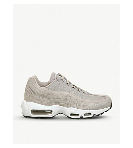 NIKE Air Max 95 leather and mesh trainers (Moon+particle