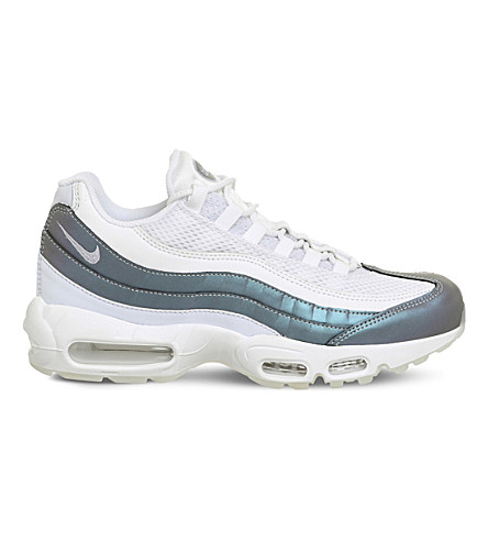 NIKE Air Max 95 leather trainers (Glacier+blue+white