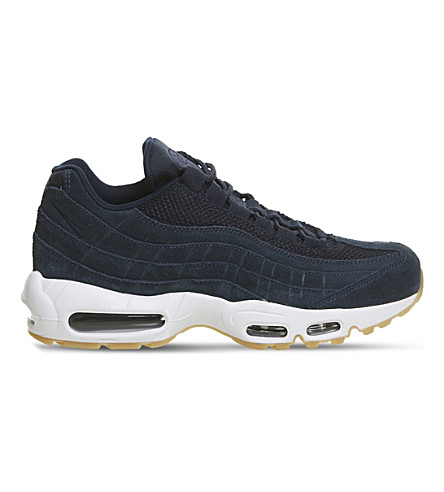 NIKE Air Max 95 suede and mesh trainers (Ammory+navy+blue+fox