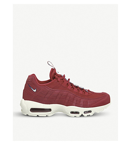 NIKE Air Max 95 leather and mesh trainers (Gym+red+sail