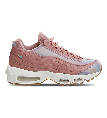 NIKE Air Max 95 leather trainers (Red+stardust+teal