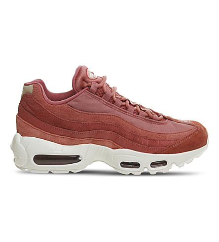 NIKE Air Max 95 leather trainers (Redwood+red+stardust