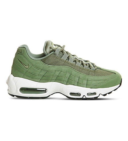NIKE Air Max 95 leather and mesh trainers (Legion green sail