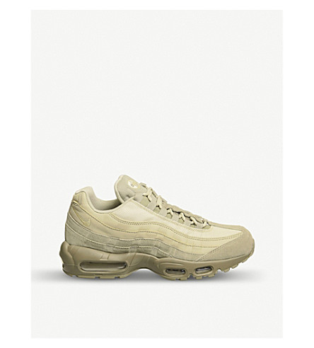 NIKE Air Max 95 suede and mesh trainers (Cargo+mushroom