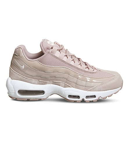 NIKE Air Max 95 leather and mesh trainers (Particle+pink+white