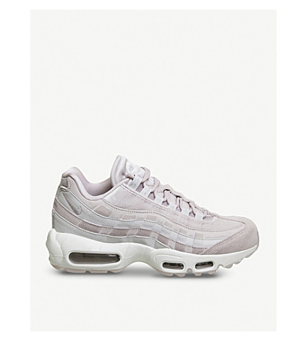NIKE Air Max 95 velvet and suede trainers (Particle+rose+velvet