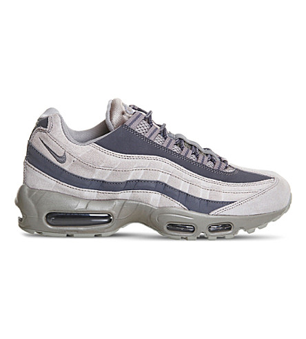 NIKE Air Max 95 gradient suede trainers (Light+taupe+grey