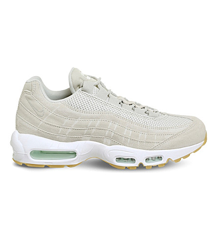 NIKE Air Max 95 suede and mesh trainers (Light+bone