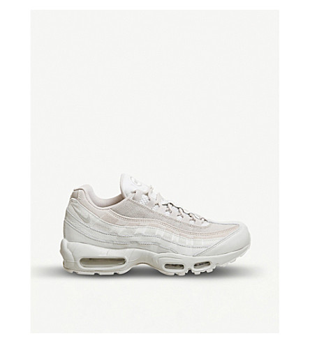 NIKE Air Max 95 suede and mesh trainers (Light+bone+string