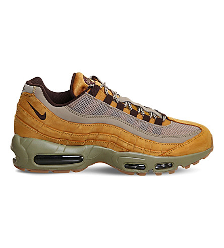 NIKE Air Max 95 suede trainers (Bronze+brown