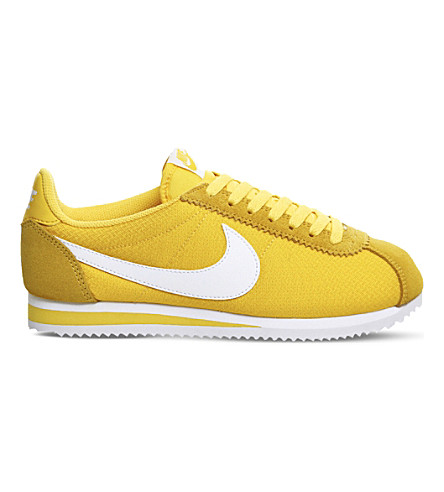 NIKE Cortez nylon trainers (Varsity maize white