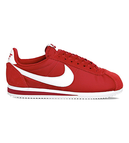 NIKE Cortez suede and nylon trainers (Classic+red+white