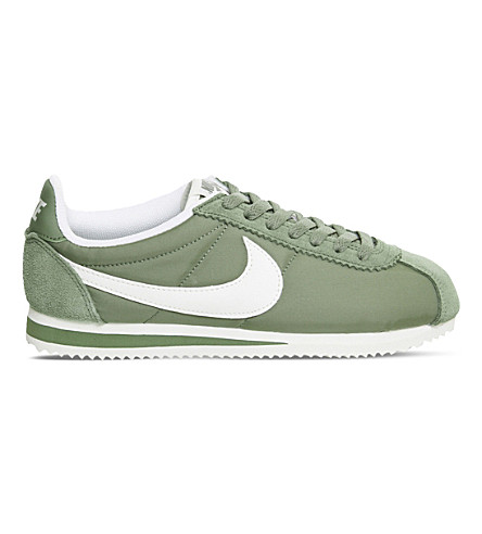 NIKE Cortez low-top woven trainers (Palm green sail