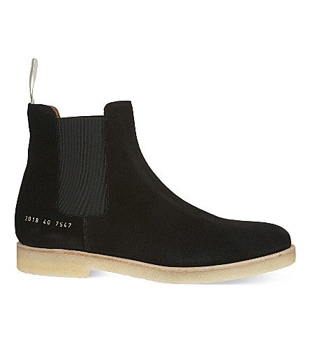 COMMON PROJECTS Suede Chelsea boots (Washed+black