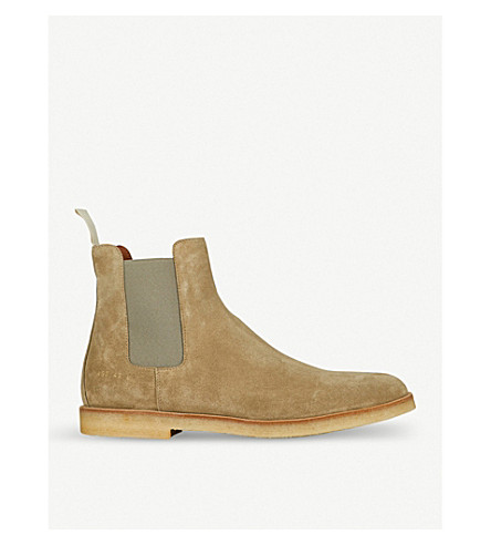COMMON PROJECTS Suede Chelsea boots (Warm grey