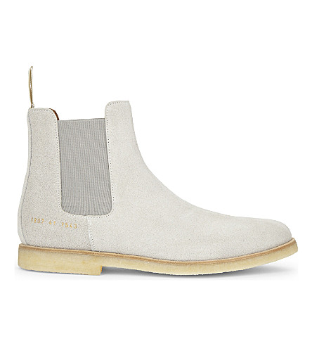 COMMON PROJECTS Suede Chelsea boots (Grey+suede+crepe