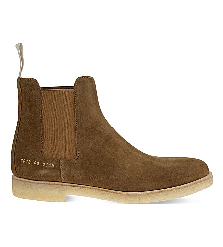 COMMON PROJECTS Suede Chelsea boots (Tobacco