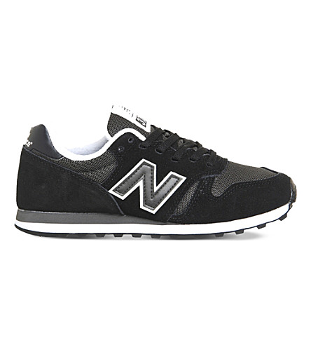 NEW BALANCE 373 suede and mesh trainers (Black grey