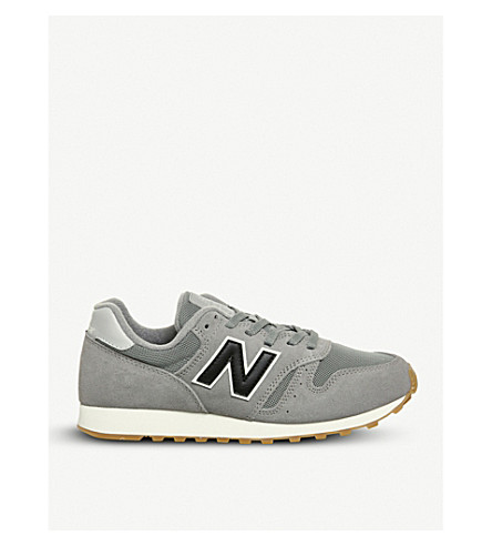 NEW BALANCE ML373 suede and mesh trainers (Grey