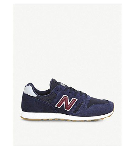 NEW BALANCE Ml373 suede and mesh trainers (Navy